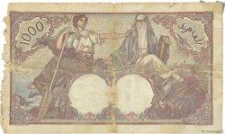 1000 Francs type 1926 TUNISIE  1938 P.11b B