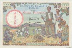 1000 Francs type 1940 modifié TUNISIE  1946 P.26s pr.NEUF