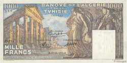 1000 Francs type 1950 temple romain TUNISIE  1950 P.29a SPL