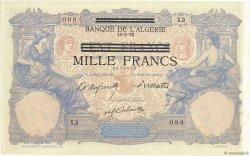 1000 Francs sur 100 Francs type 1892 TUNISIE  1943 P.31 SPL