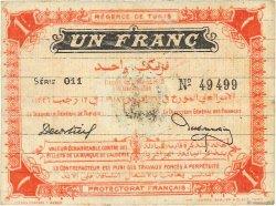 1 Franc TUNISIE  1918 P.36c TTB