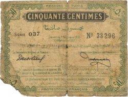 50 Centimes TUNISIE  1918 P.42 B