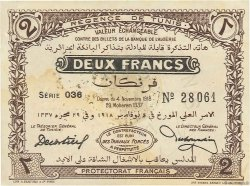2 Francs TUNISIE  1918 P.44 SUP
