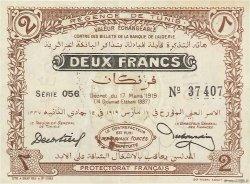 2 Francs TUNISIE  1919 P.47b SUP