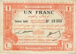 1 Franc TUNISIE  1920 P.49 TTB