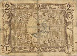 2 Francs TUNISIE  1920 P.50 TB