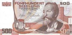 500 Schilling AUTRICHE  1985 P.151 SUP