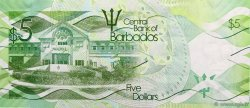 5 Dollars BARBADE  2013 P.74 NEUF