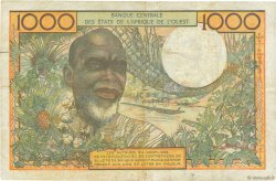 1000 Francs type 1960 NIGER  1973 P.603Hl TB+