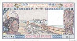 5000 Francs type 1976 NIGER  1985 P.608Hj SPL