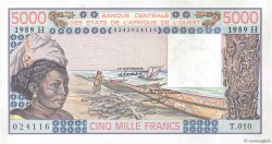 5000 Francs type 1976 NIGER  1989 P.608He SUP+