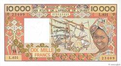 10000 Francs type 1975 ÉTATS DE L