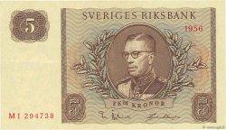 5 Kronor SUÈDE  1956 P.42c SUP+