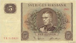 5 Kronor SUÈDE  1961 P.42f TTB+