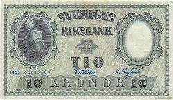 10 Kronor SUÈDE  1953 P.43a TTB