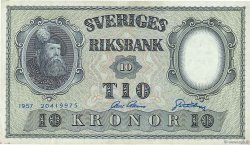 10 Kronor SUÈDE  1957 P.43e TTB