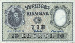 10 Kronor SUÈDE  1958 P.43f SUP