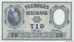 10 Kronor SUÈDE  1958 P.43f NEUF