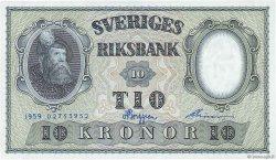 10 Kronor SUÈDE  1959 P.43g NEUF