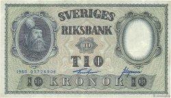 10 Kronor SUÈDE  1960 P.43h TTB
