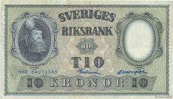 10 Kronor SUÈDE  1962 P.43i TB