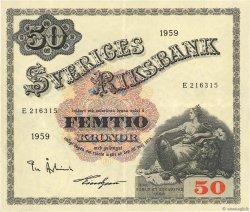 50 Kronor SUÈDE  1959 P.47a SUP