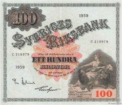 100 Kronor SUÈDE  1959 P.48a SUP+