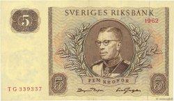 5 Kronor SUÈDE  1962 P.50a SPL