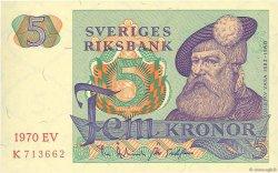 5 Kronor SUÈDE  1970 P.51b NEUF