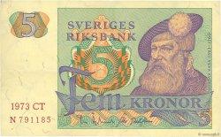 5 Kronor SUÈDE  1973 P.51c TTB+
