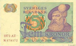 5 Kronor SUÈDE  1973 P.51c SUP+