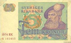 5 Kronor SUÈDE  1974 P.51c TTB+