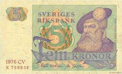5 Kronor SUÈDE  1976 P.51c TB
