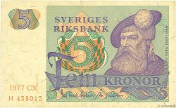 5 Kronor SUÈDE  1977 P.51d TTB