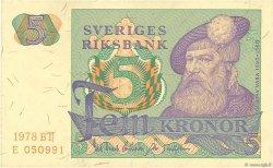 5 Kronor SUÈDE  1978 P.51d SUP