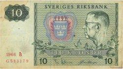 10 Kronor SUÈDE  1966 P.52b TB