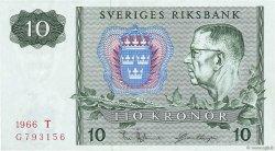 10 Kronor SUÈDE  1966 P.52b TTB+