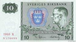 10 Kronor SUÈDE  1968 P.52b TTB+
