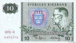 10 Kronor SUÈDE  1972 P.52c NEUF