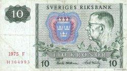 10 Kronor SUÈDE  1975 P.52c TB