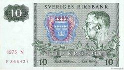 10 Kronor SUÈDE  1975 P.52c TTB+