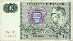 10 Kronor SUÈDE  1976 P.52d TB