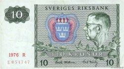 10 Kronor SUÈDE  1976 P.52d TTB