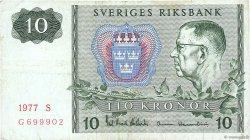 10 Kronor SUÈDE  1977 P.52d TB