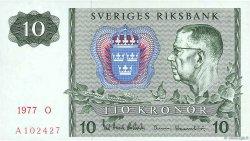 10 Kronor SUÈDE  1977 P.52d SPL