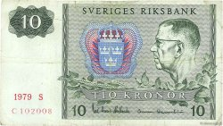 10 Kronor SUÈDE  1979 P.52d TB