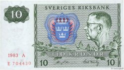 10 Kronor SUÈDE  1983 P.52d SUP