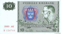 10 Kronor SUÈDE  1980 P.52e SPL