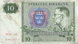 10 Kronor SUÈDE  1981 P.52e TB
