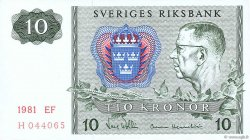 10 Kronor SUÈDE  1981 P.52e SUP